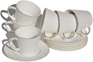 Best white crockery with gold trim Reviews