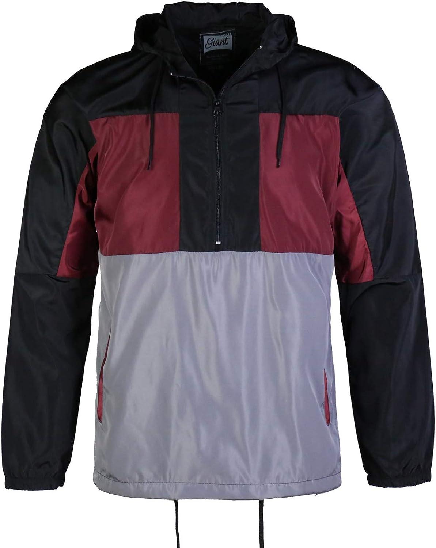 Men's Water Resistant Windbreaker Silm fit long sleeve Performance School Comfort Trenchcoat