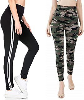 Aglobi Women's/Girl's Army Style Track with Mix Bottom Wear Combo Pack of 2 Free Size