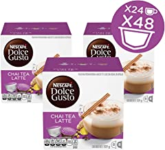 NESCAFÉ Dolce Gusto Coffee Capsules Chai Tea Latte 48 Single Serve Pods, (Makes 24 Specialty Cups) 48 Count