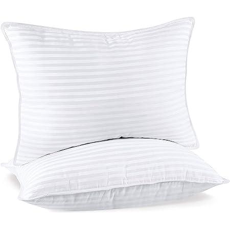 Utopia Bedding Premium Oreillers (Lot de 2) - 50 x 70 cm Oreillers Rectangulaires pour Dormir - Tissu en Coton Mélangé avec Garnissage 3D Fibre Polyester - Respirant et Doux (Blanc)