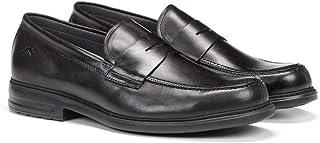 Fluchos | Zapato de Hombre | Simon 8721 Natural Negro Zapato de Vestir | Zapato de Piel de Vacuno Natural Encerada y cepil...