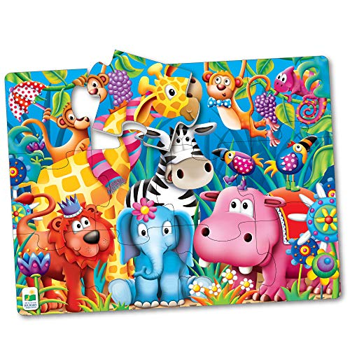 The Learning Journey My First Big Floor Puzzle - Jungle Friends - 12-Piece Toddler Puzzle (2 x 1.5 feet) - Educational Gifts for Boys & Girls Ages 2 and Up, Multi