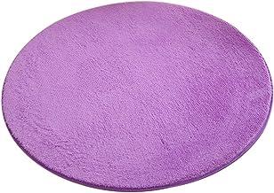 Enerhu Round Area Rug Soft Living Room Carpet Non-Slip Floor Mats Purple XL 62.99 inch