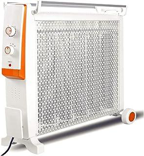 JU FU Calentador eléctrico 2200W Calefactor de convección de Cristal de Silicona 2 Ajuste de Potencia Protección contra sobrecalentamiento Vertical Blanco