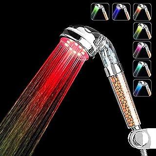 Couradric Soffione Doccia LED Luminosa 7 Colori Cambiano Alt
