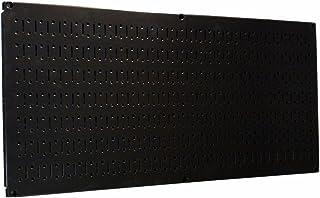 Wall Control 30-HP-1632 Panel de herramientas de metal horizontal de 16 x 32 pulgadas, 16T x 32W, Negro