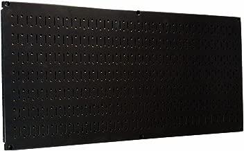 Wall Control Pegboard 16in x 32in Horizontal Black Metal Pegboard Tool Board Panel
