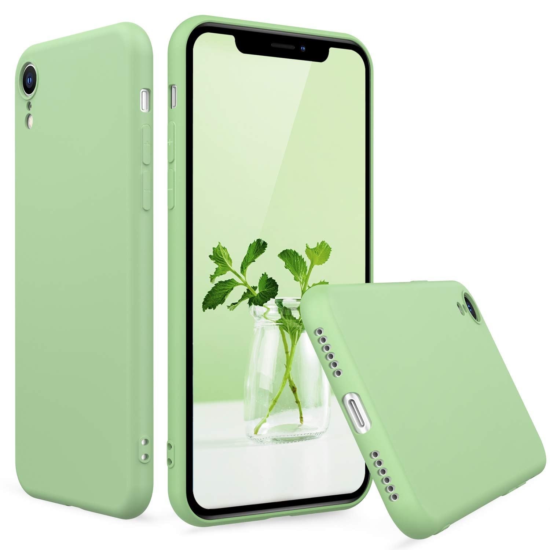 Peakally Funda iPhone XR, Carcasa Verde TPU Suave Funda para iPhone XR Funda Flexible Ligero Fundas [Resistente a arañazos] [Ultrafina Delgado]-Verde: Amazon.es: Electrónica