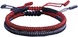 Handmade DIY Knots Rope Lucky Bracelets Set for Men Women Adjustable Braided Friendship wrap Wrist Bracelets Gifts