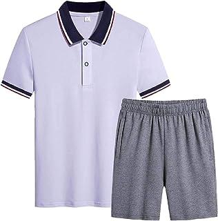 Gocgt Mens 2 Piece Outfits Sportswear Short Sleeve Shirt and Shorts Set Joggers Set Tracksuit