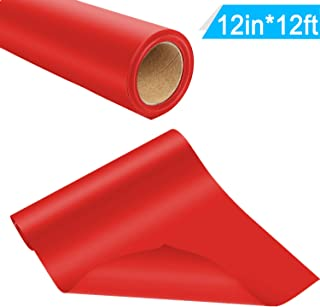 HTV Iron on Heat Transfer Vinyl Roll 12inch x12feet by Somolux for Cricut and Silhouette Easy to Cut & Weed DIY Design T-Shirts Red