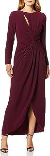 Dress the Population womens Naomi Longsleeve Jersey Knit Twist Long Maxi Gown Dress Dress
