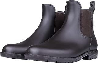 Women's Waterproof Ankle Rain Boots - Lady Slip On Short Rain Shoes Chelsea Booties