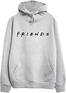 Womens Loose Friends Hoodie Cotton Blend TV Show Hooded Sweashirt Pullover Tops