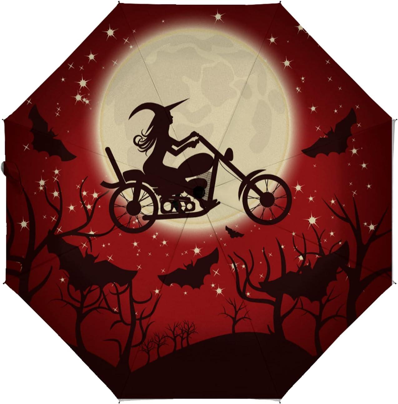 OcuteO Auto Indefinitely Open Close Umbrella Night Happy Max 72% OFF Halloween Pu Holiday