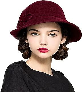 Women's Wool Felt Flowers Church Bowler Hats