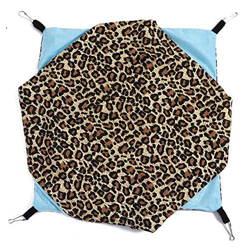 Cikonielf Hangmat, dubbellaags, schommelbank, hangmat, nest house, canvas, huisdier, hangmat, hangmat, slaapzak voor kleine huisdieren, Sexy luipaard patroon