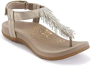 Portia Womens Fringe Slingback Orthotic Thong Sandals