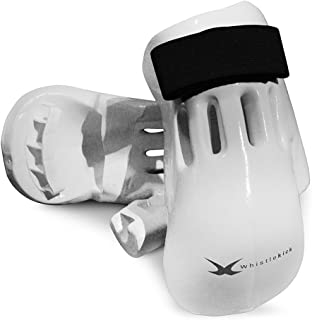 whistlekick Martial Arts Gloves with Free Backpack and Warranty-Karate Taekwondo Boxing MMA Sparring Gear Set