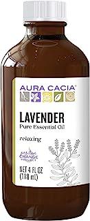 Aura Cacia 100% Pure Lavender Essential Oil | GC/MS Tested for Purity | 120 ml (4 fl. oz.) | Lavandula angustifolia