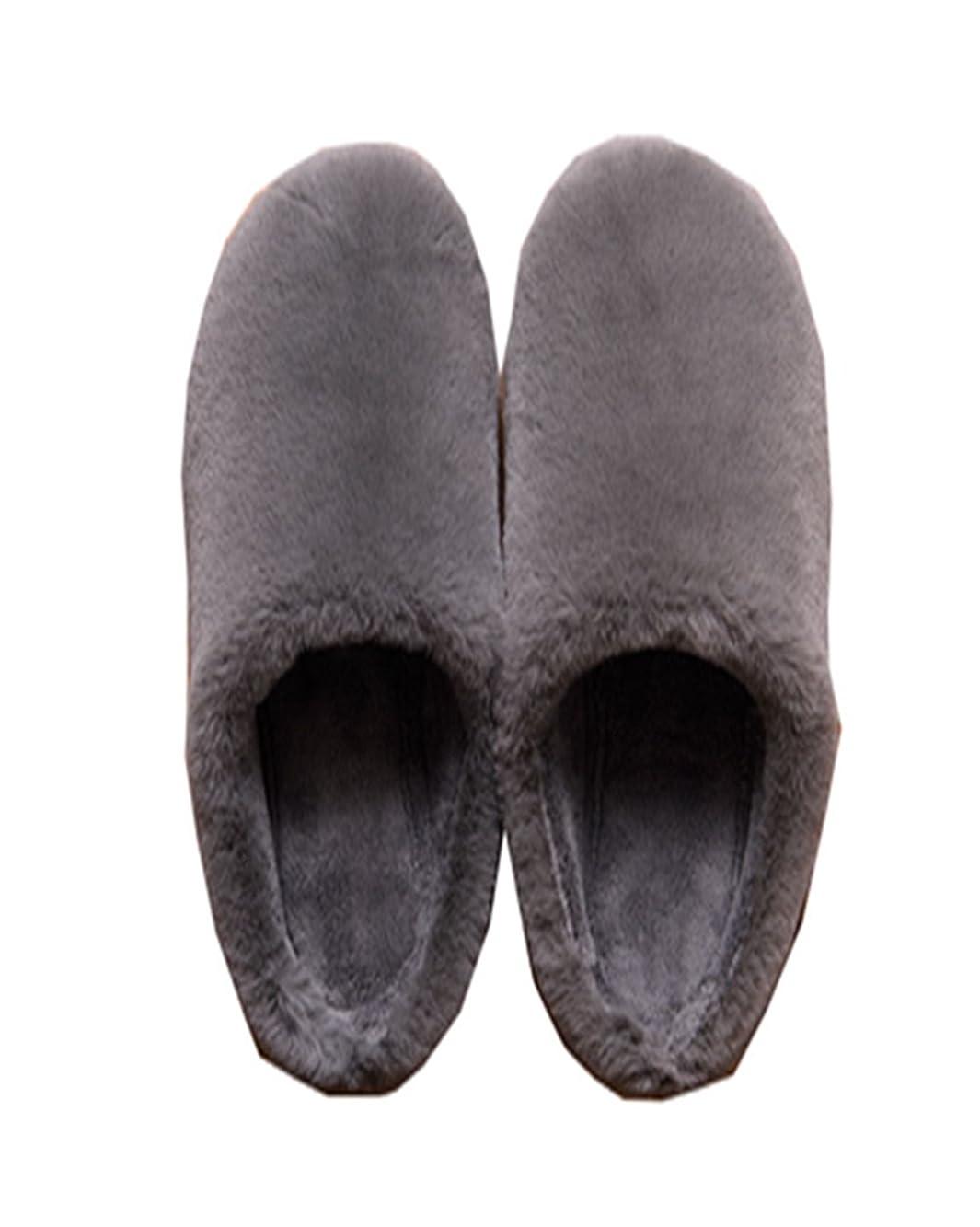 あなたが良くなりますキャンディー普及[HONGJING] スリッパ ルームシューズ レディース メンズ 冬 防寒 男女兼用あったか 滑り止め加工 軽量 静音 素朴デザイン 室内履き ぽかぽか