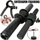Fat Grip Unterarmtrainer, Profi Trainingshilfe für Handgelenk und Unterarm Wrist Roller,...