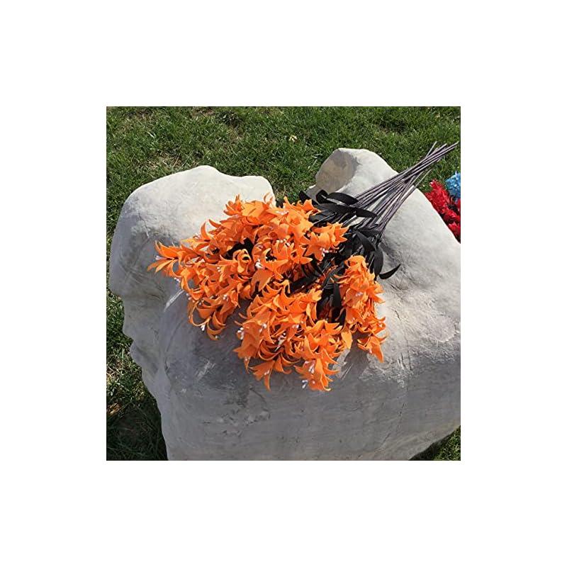 silk flower arrangements artificial and dried flower 10pcs european hyacinth flower artificial flowers flowers fake flowers living room floor decoration - ( color: orange )