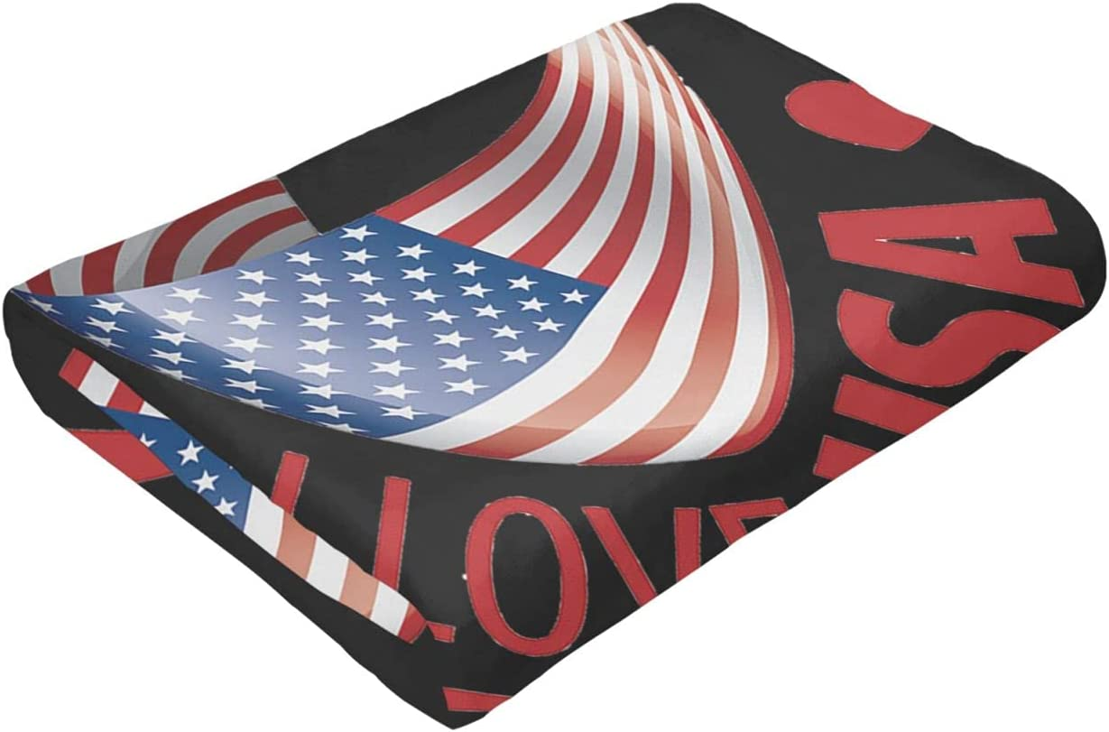 Flag discount USA Ultra-Soft Micro Fleece Blanket Max 69% OFF Sof Or Bed Suitable for