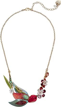 Bird Floral Frontal Necklace