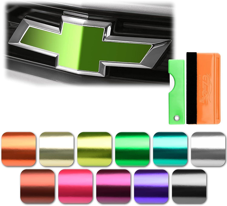 EZAUTOWRAP Luxury Latest item goods Free Tool Kit 2Pcs Emblem Bowtie Bronze Chevy 5