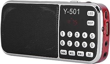 Mini USB FM Radio, Portable Radio Speaker 78-108MHz Stereo Audio Player High Sensitivity Noise Cancelling Digital TF Card ...