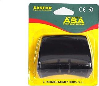 Sanfor Negro   7 x 8 x 5 cm Blíster Asa para Olla a presión Adaptable Magefesa con Tornillo Fácil de Montar