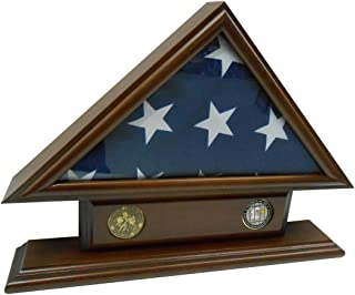 5'x9' Flag Case for Veteran / Funeral / Burial Flag - With Name Tag and 2 Coin Holder