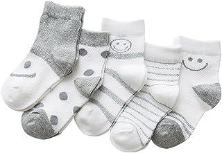 Black Temptation, 5 pares unisex del bebé Calcetines, 1-3 años de edad del bebé del algodón Calcetines #06