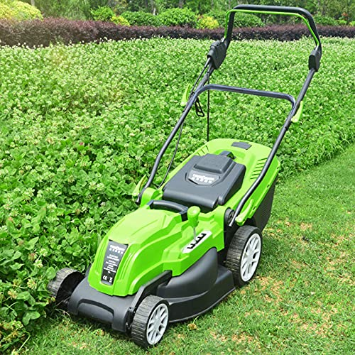 Electric Lawn Mower with Folding Handle, 2200W High Power Dethatcher with 45L Detachable Grass Collection Box, Corded Push Lawn Sweeper,2200W+20m Wire