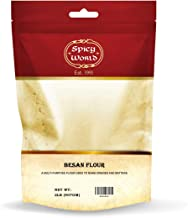 Spicy World Besan Flour 2 LB Bag - Gram Flour, Chana Flour, Chickpea Flour
