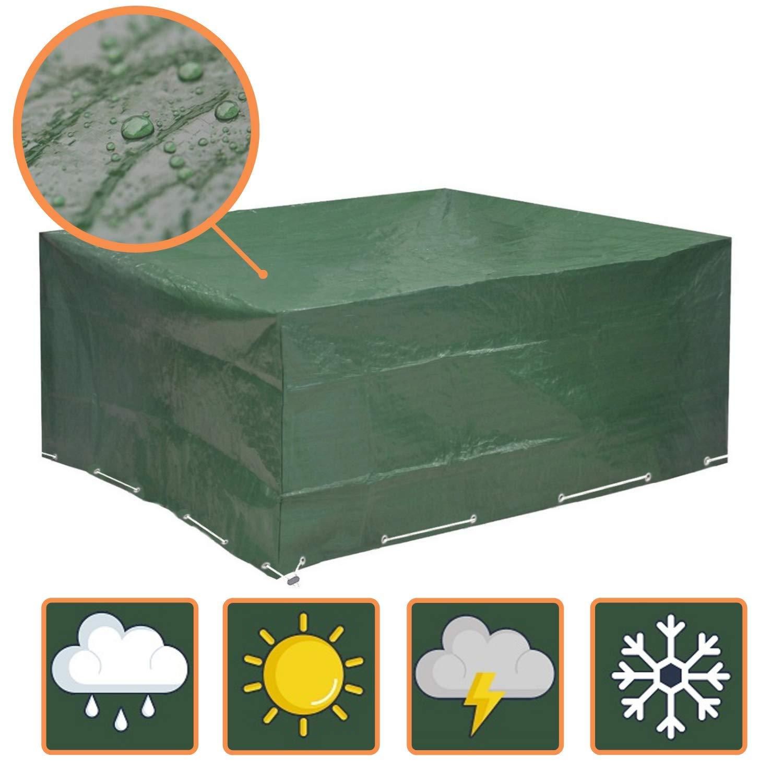 Glorytec Funda Muebles Jardin 200x160x70 - Funda Mesa Jardin con protección Impermeable contra el Viento y Condiciones climáticas - Funda Protectora para mesas de jardín (cuadradas o angulares): Amazon.es: Jardín