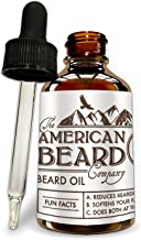 Beard Oil for Men | Beard Conditioner | Beard Growth Oil | Beard Softener for Men - Best Mens Grooming Care and Softener - Made In The USA Unscented Comes with Dropper