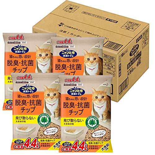 ニャンとも清潔トイレ 脱臭・抗菌チップ 大容量 大きめ 4.4L×4個(ケース販売) [猫砂]
