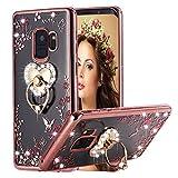 Galaxy S9 Case Pink Ring, Miniko(TM) Soft Slim...