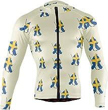 Ainans French Fries Men's Cycling Jersey Long Sleeve Bike Jacket Biking Bicycle Jersey Shirt