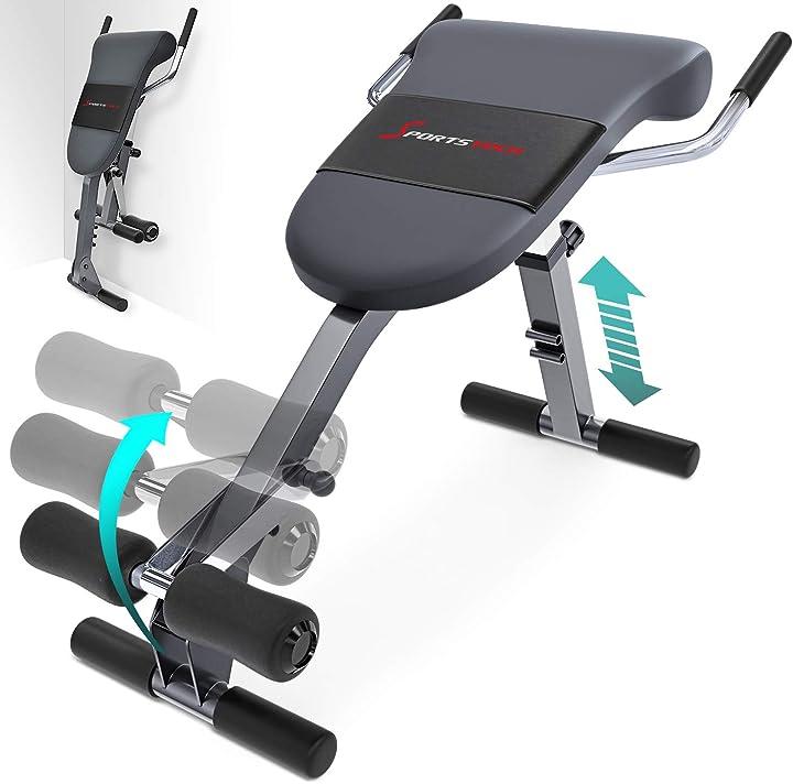 Panca per schiena e addome con innovativo design antiscivolo 5 livelli di inclinazione. sp_brt200_es