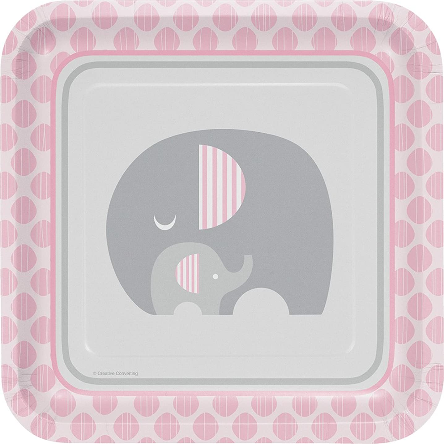 8-Count Square Lunch Paper Plates, Little Peanut Girl