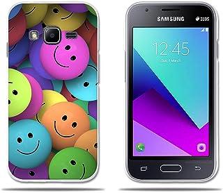 2c33e841e35 fubaoda Funda Samsung Galaxy J1 Mini Prime (Interesante) Diveretido Dibujo  de Cara Sonriente,
