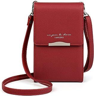 Katech Damen Kleine Umhängetasche, Citytasche Schultertasche Multifunktionale Handytasche mit Vielen Fächern und Kartenfäc...