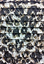 1.44 Inch Ruffles Large Leopard Animal Print Stretch Polyester Spandex Knit Fabric by The Yard