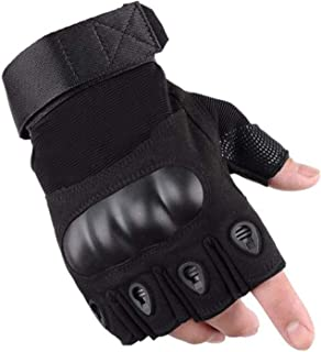 LAFILLETTE Half Finger Hard Knuckle Motorcycle Arm Shooting Outdoor Gloves Gym & Fitness Gloves