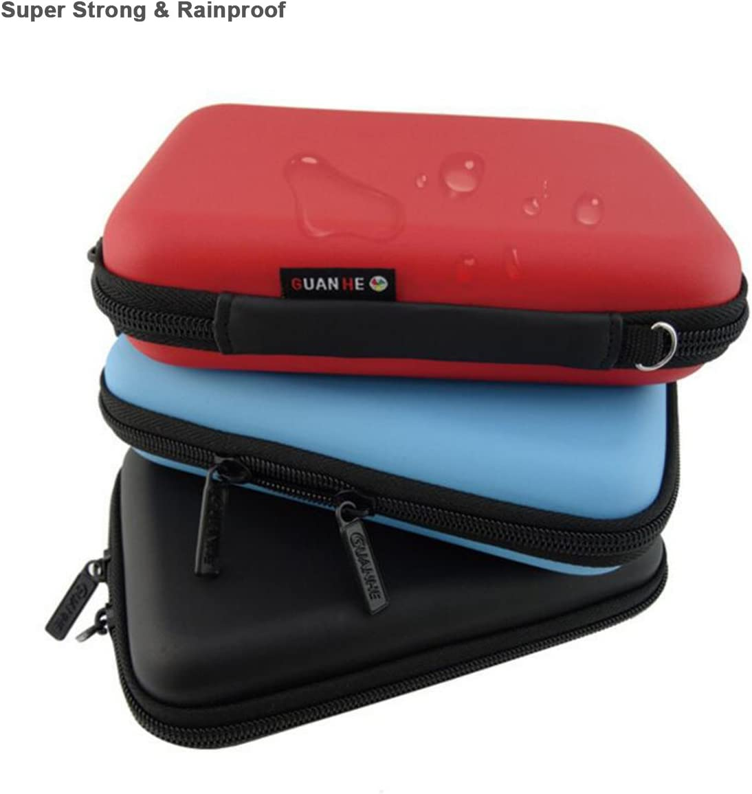 Small Size Projector Travel Carrying Case for Pico DLP Handheld Pocket Mini Projector and Accessories Organizer Multifunction - Red