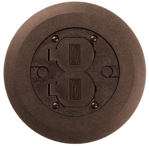 Hubbell 34251 Floor Box Cover And Flange, Brown